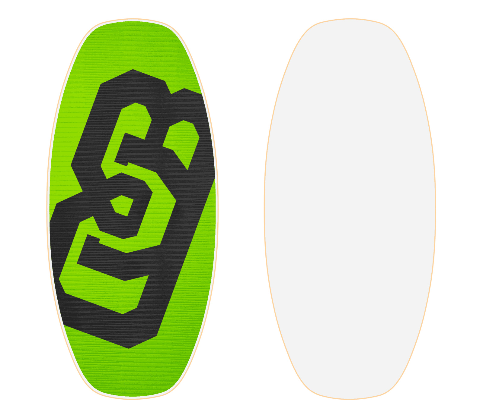 Custom streamline medium db skimboard flex flexy with for Skimboard template